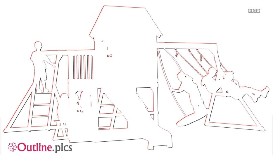 Baby Jungle Gym Outline Sketch