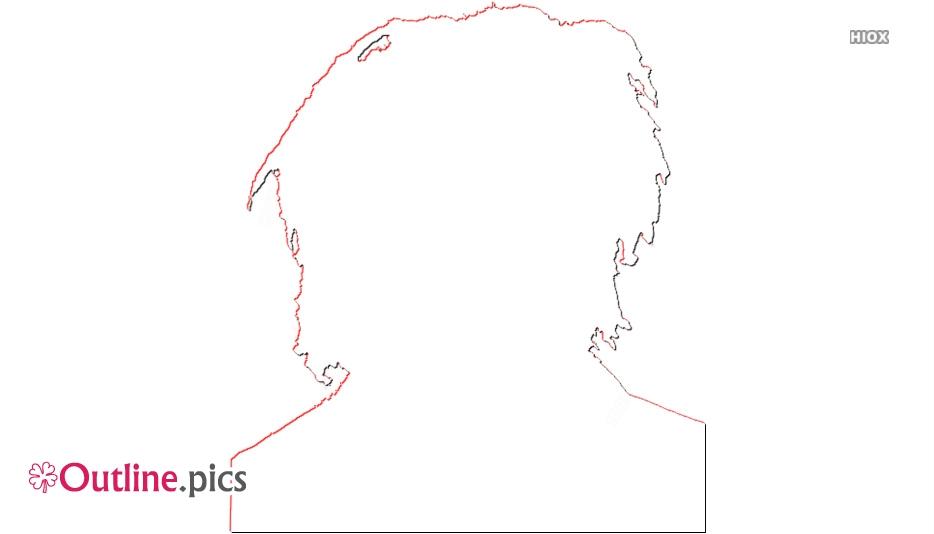 Bob Marley Outline Image