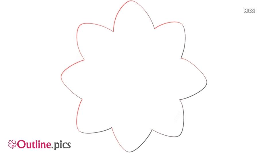 Buttercup Flower Outline Illustration