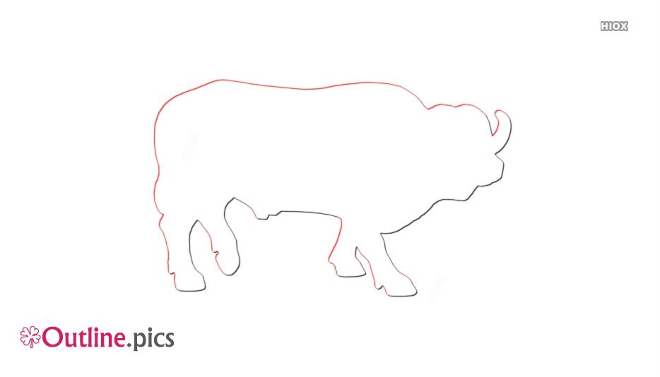 Cape Buffalo Outline