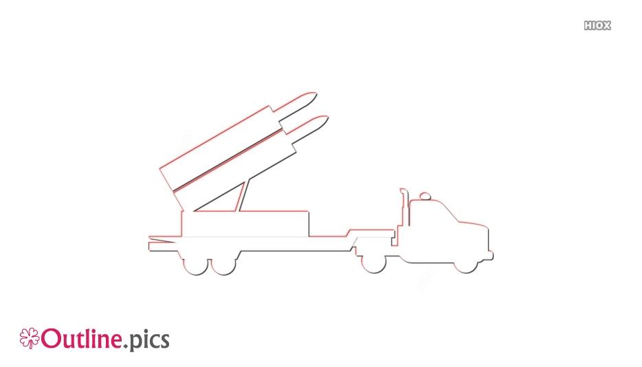 Cartoon Army Artillery Outline