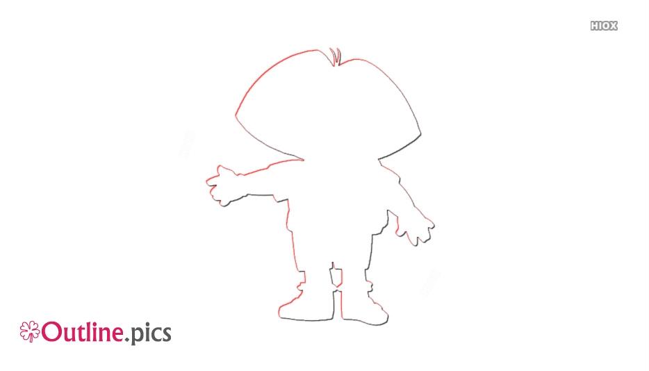 Cartoon Characters Dora The Explorer Vector Outline