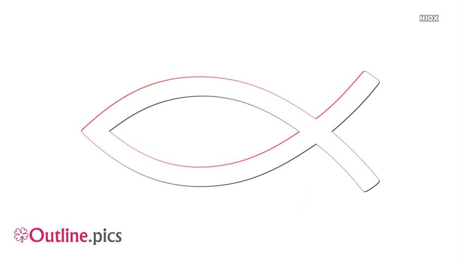 Cartoon Christian Fish Symbols Outline