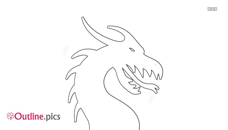 Cartoon Dragon Head Outline
