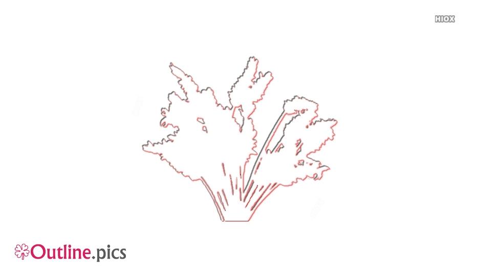 Cartoon Lavender Flowers Outline