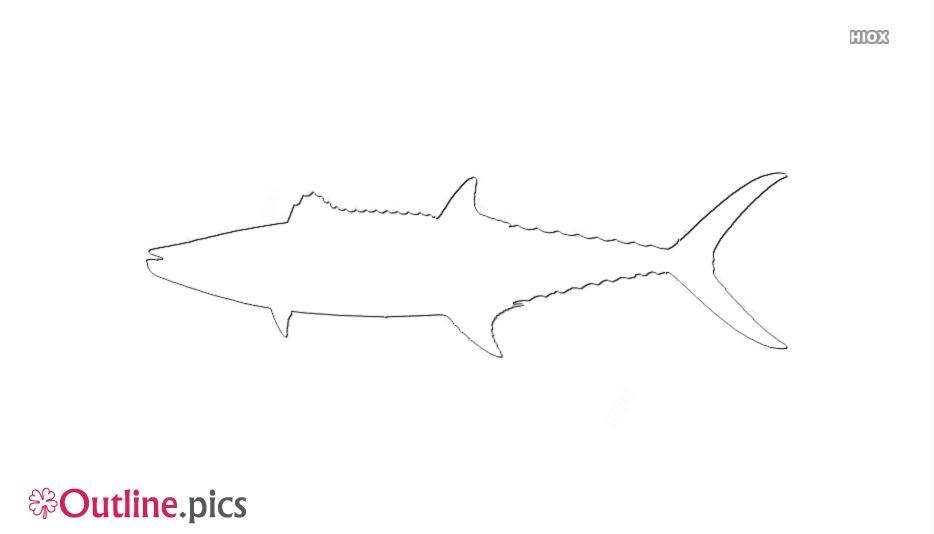 Cartoon Mackerel Fish Outline