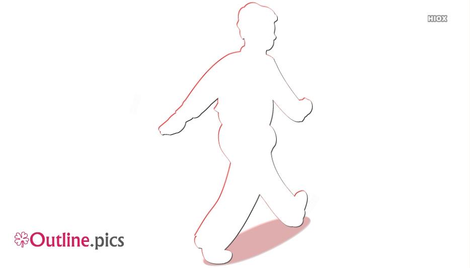 Cartoon Man Walking Outline Clip Art
