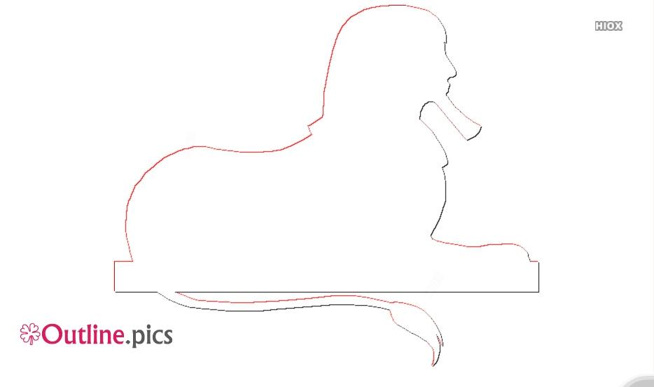 Cartoon Sphinx Outline ClipArt