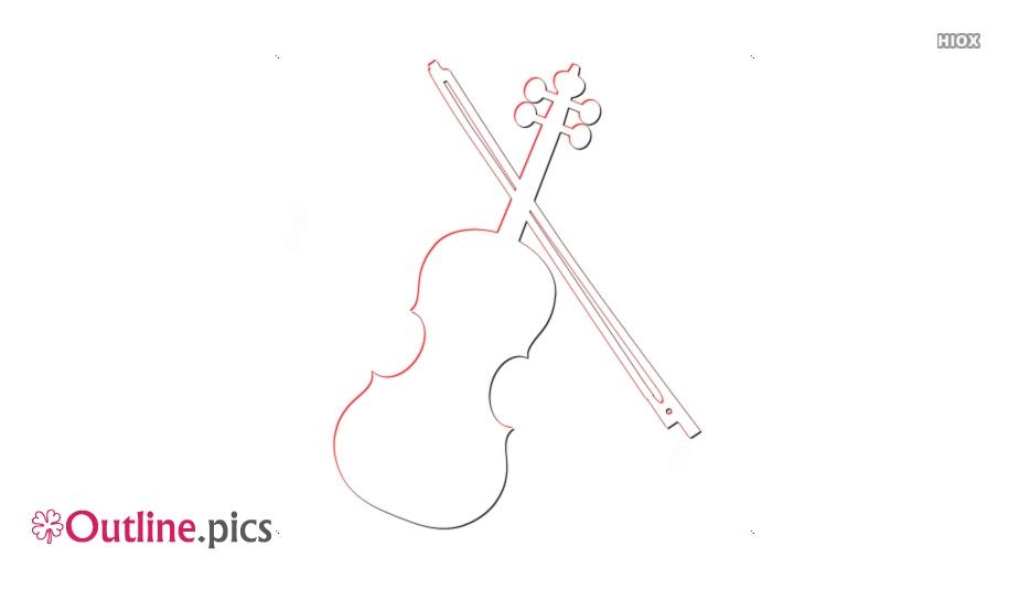 Cartoon Violin Outline Design
