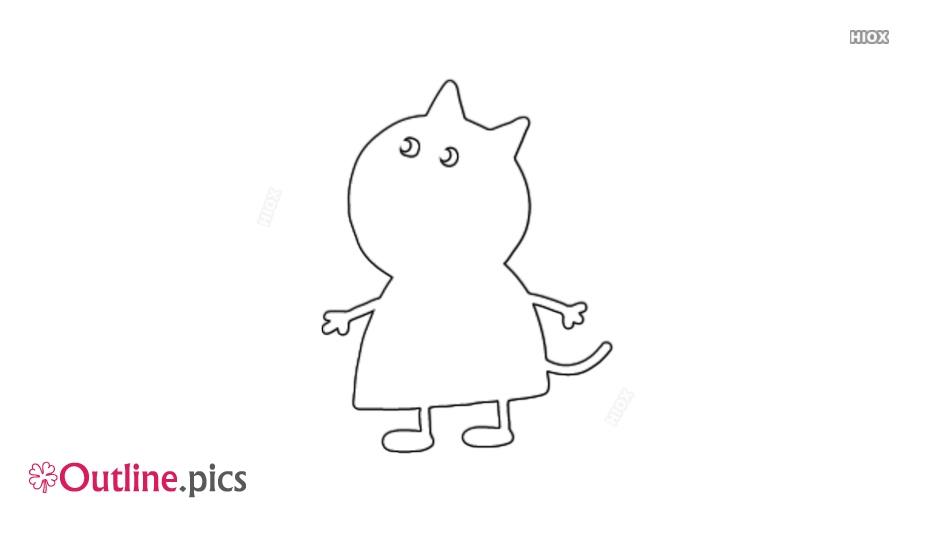 Cat Girl Outline