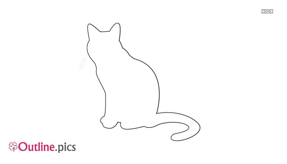 Cat Outline Black