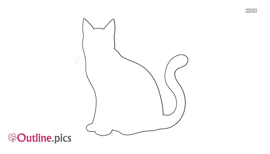 Cat Outline Sitting