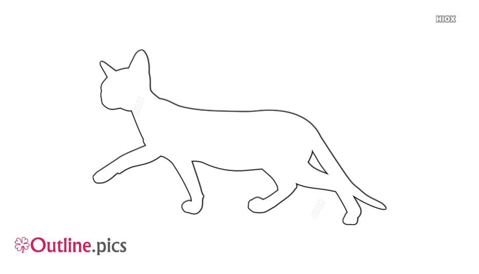 Cat Walking Outline