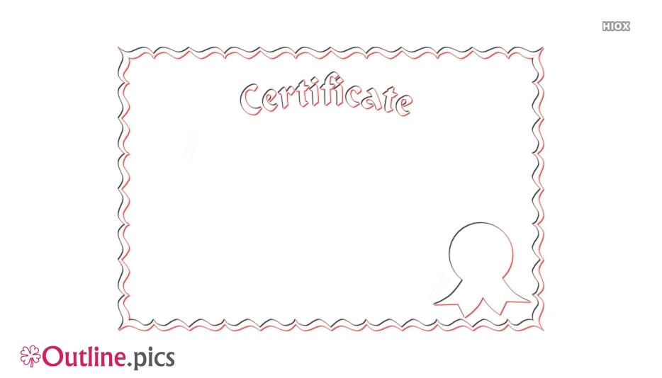 Certificate Border Outline Illustration