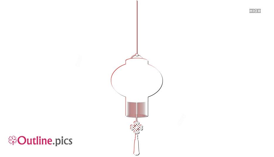 Chinese Lantern Outline Image