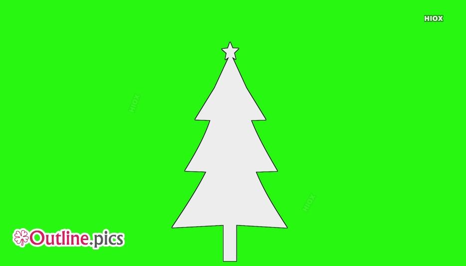Christmas Tree Outline Drawing Outline Pics