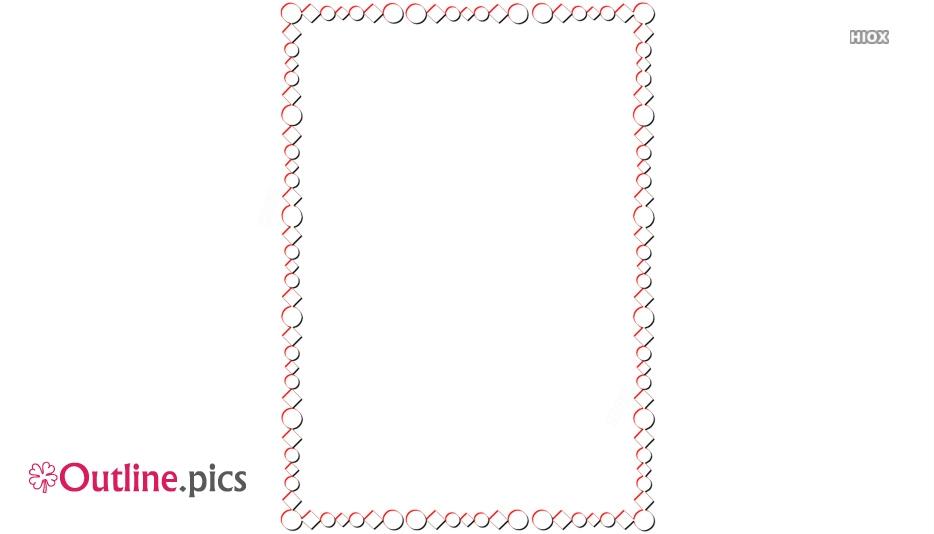 Circle and Diamond Border Outline