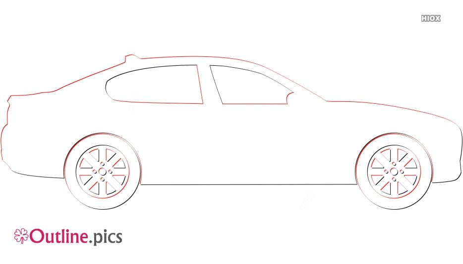 Clipart Sedan Car Outline