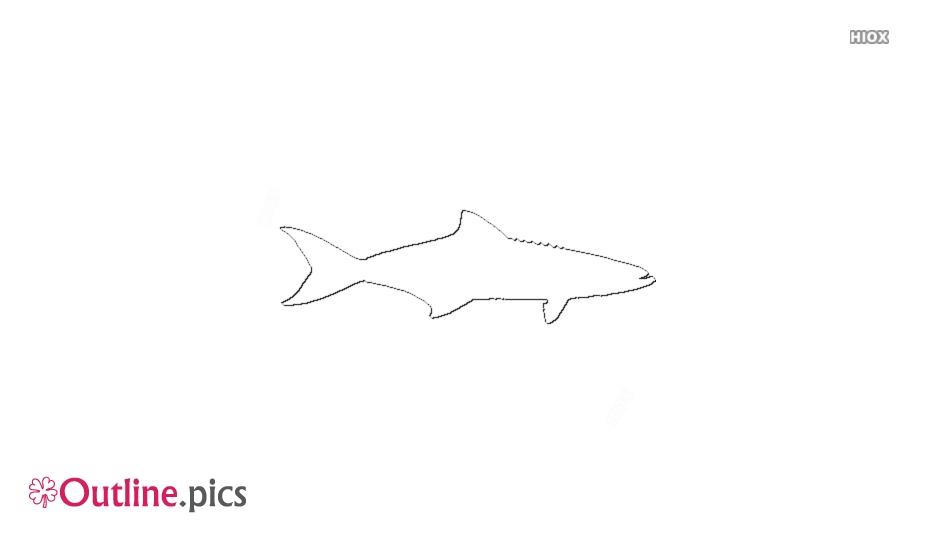 Cobia Fish Outline Clip Art, Vector
