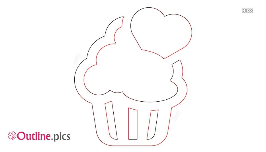 Cupcake Outline Vector