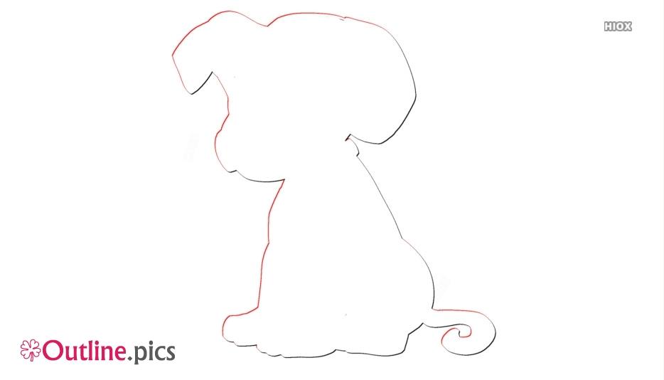 Dalmatian Cartoon Puppy Outline