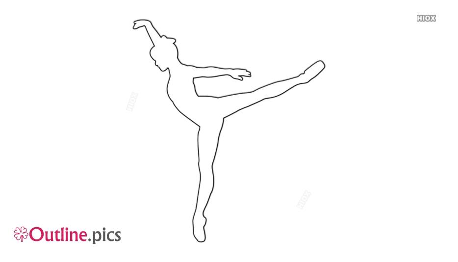 Dancer Pose Dancing Outline