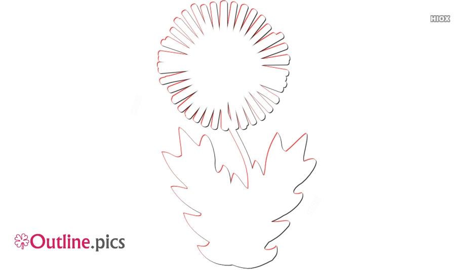 Dandelion Outline Picture