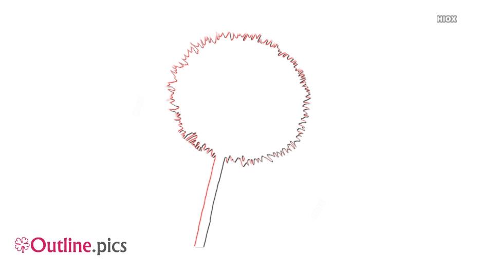 Dandelion Outline Sketch