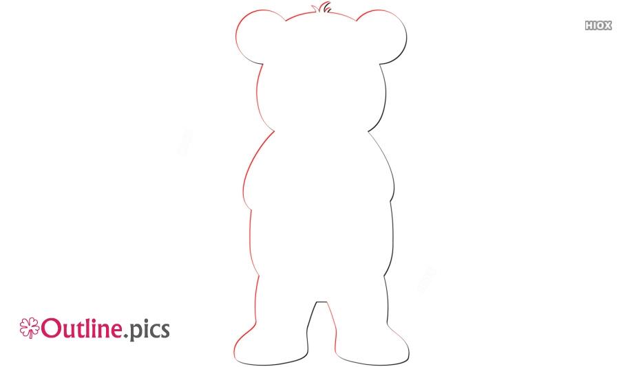 Disney Bear Character Outline Image