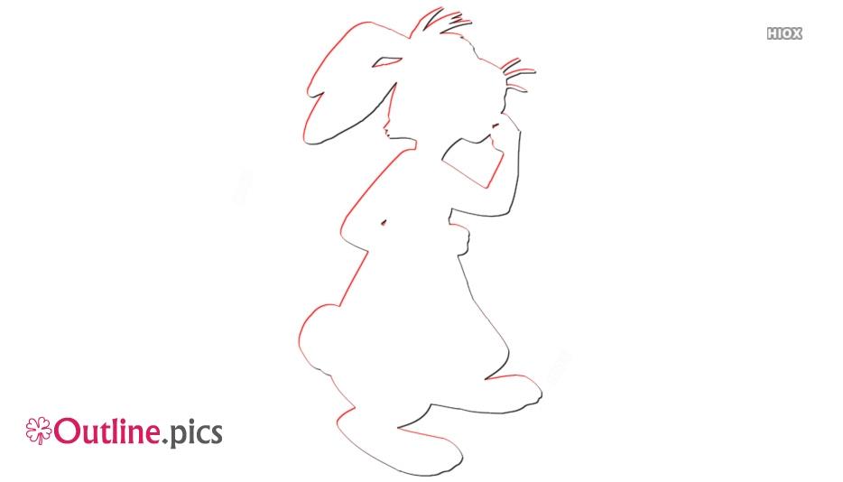 Disney Character Rabbit Outline Sketch