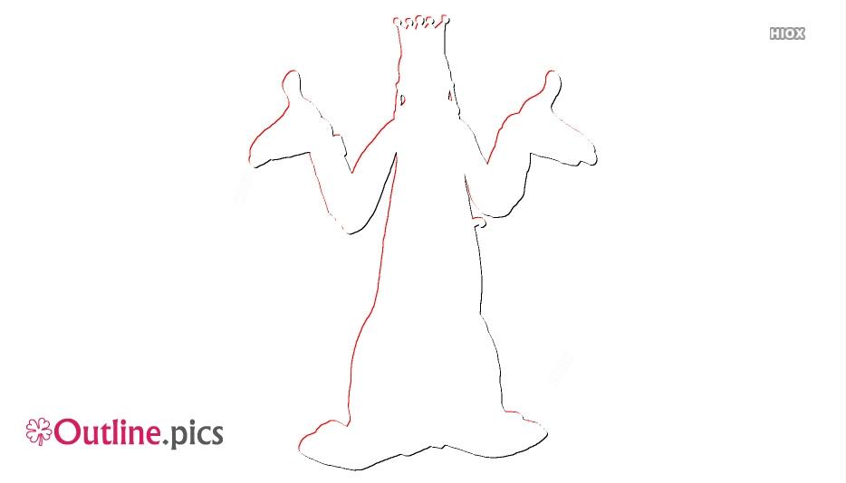 Cartoon Princess Outline Images
