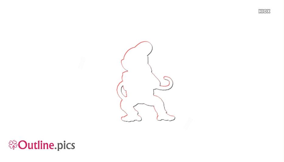 Donkey Kong Vector Outline