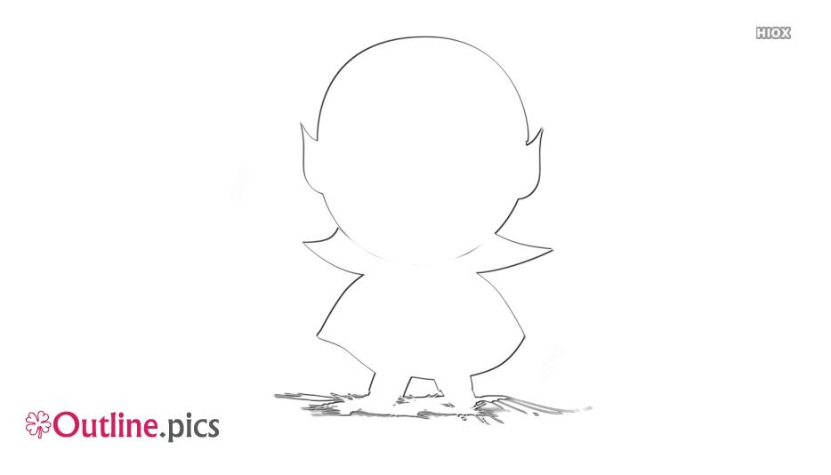Dracula Cartoon Outline Free Vector Art