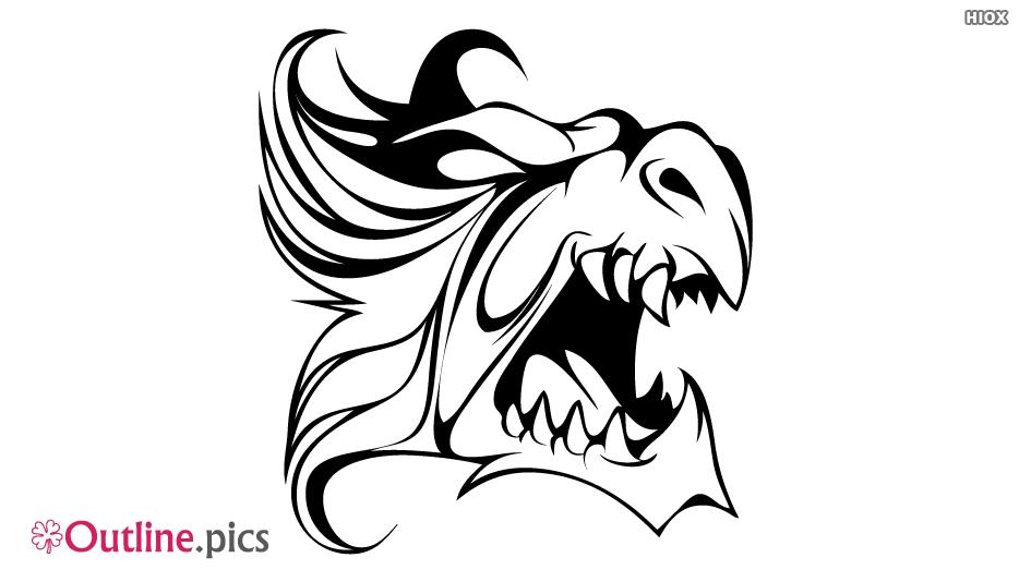 Dragon Tattoo Outline Design