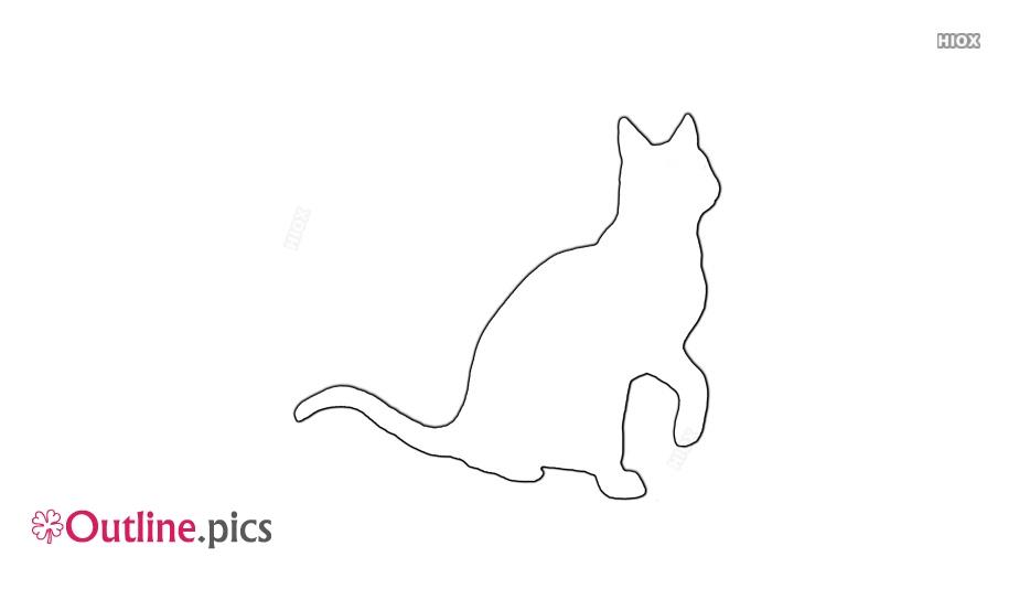 Elegant Cat Outline