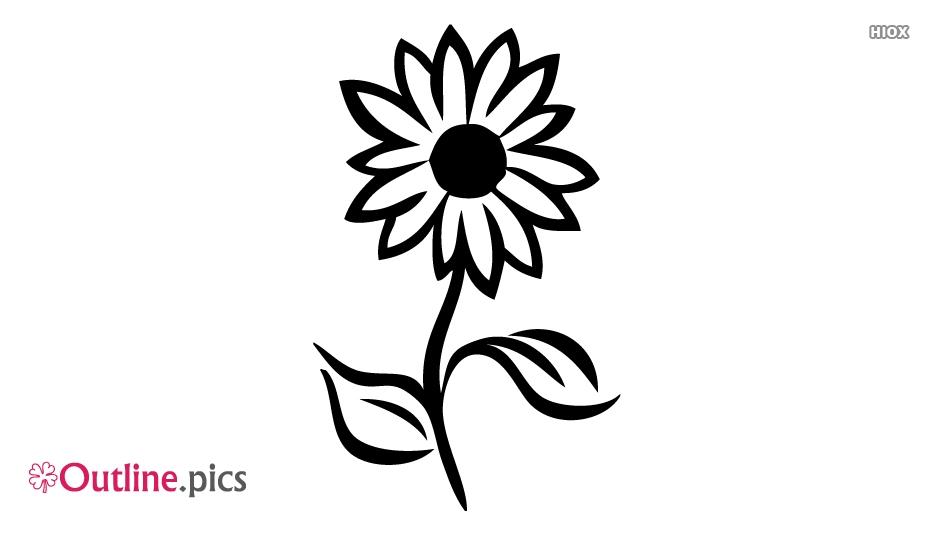 Elegant Flower Outline