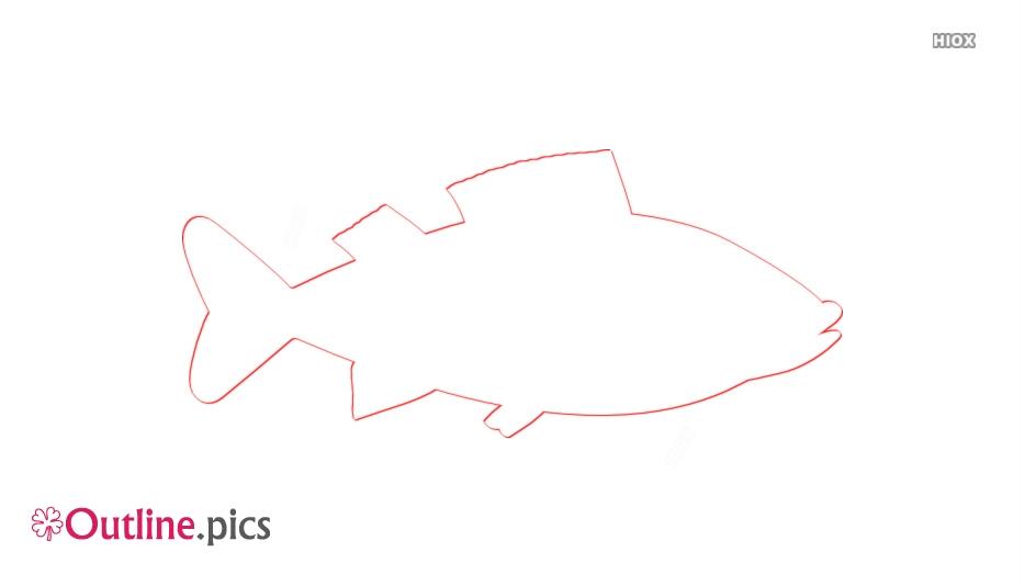 Fish Cartoon Outline Clipart
