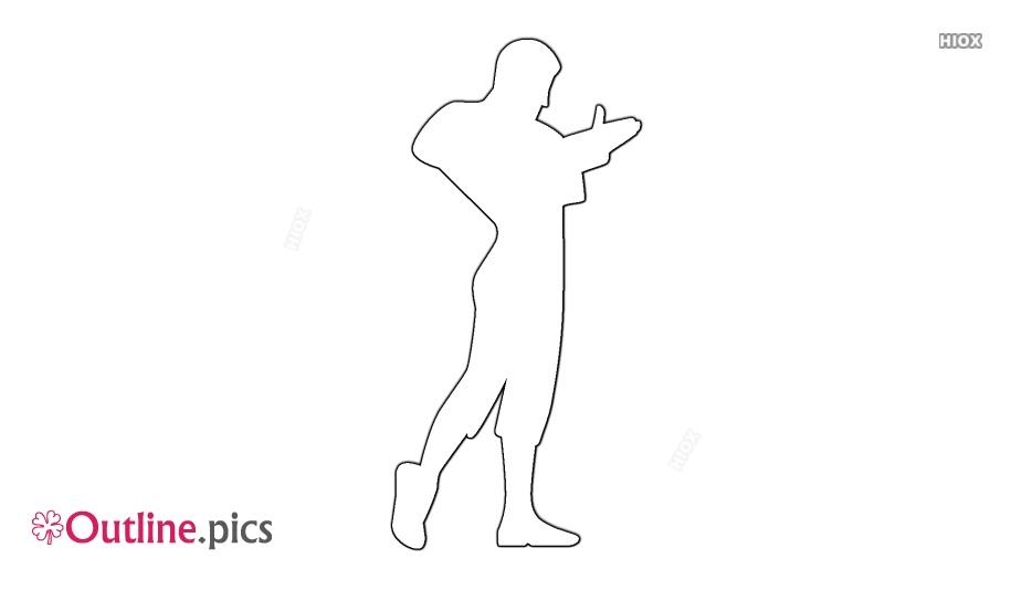 Flamenco Male Dancer Outline