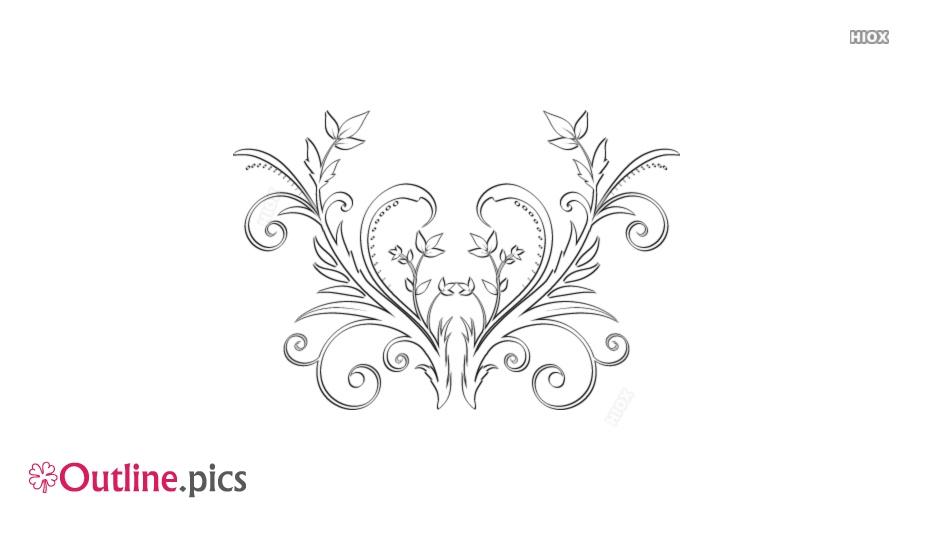 Floral Heart Outline