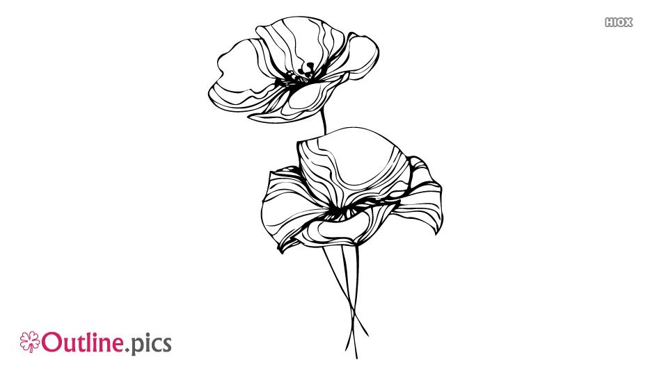 Flower Art Outline