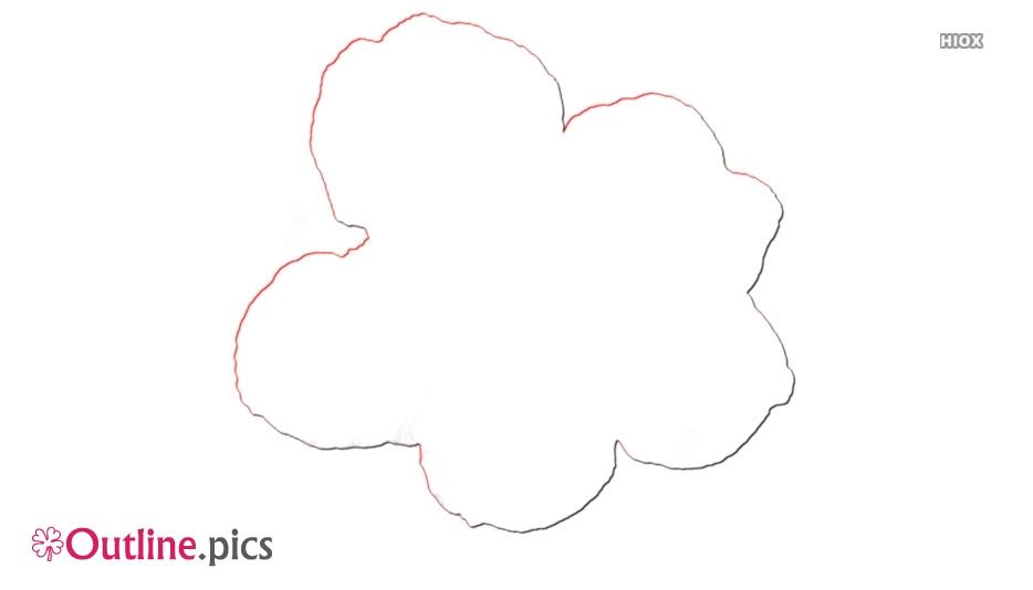 Flower Geranium Clip Art Outline Image