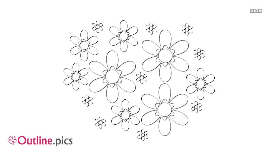 Flower Outline Pattern