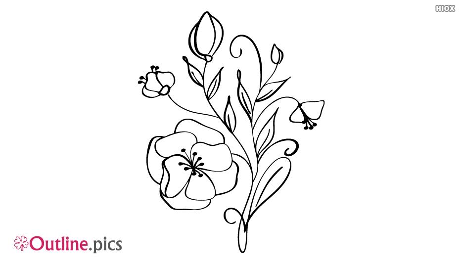 Flower Outline Sketch Vector