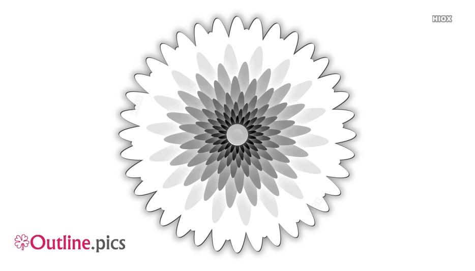 Flower Outline Tattoo