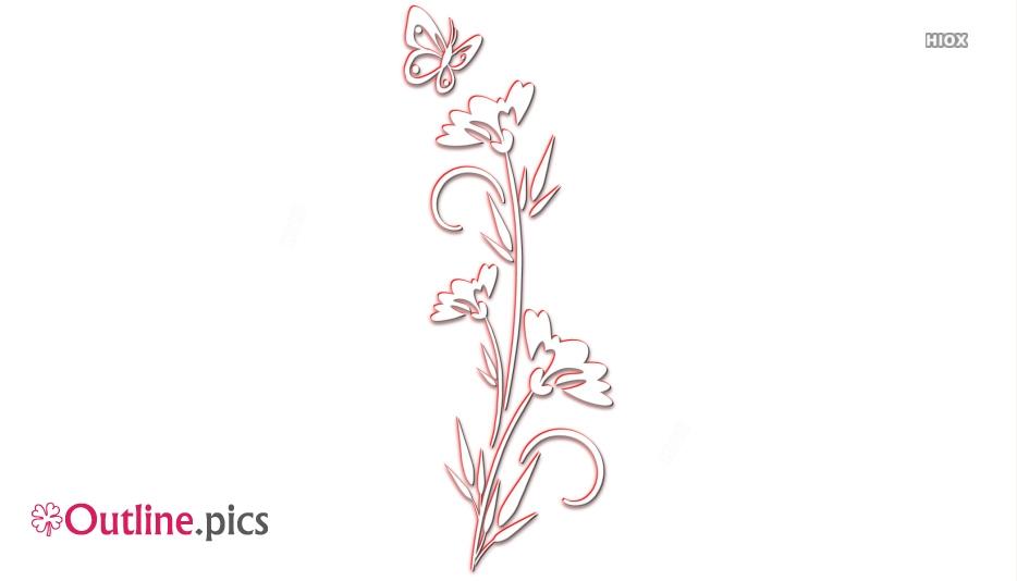Flower Silhouettes Art Outline