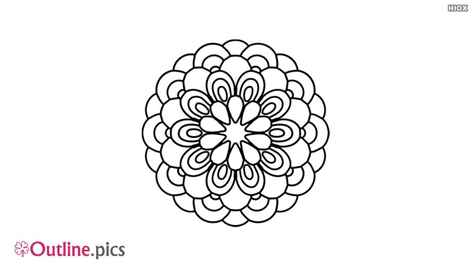Flowers Linear Pattern Outline