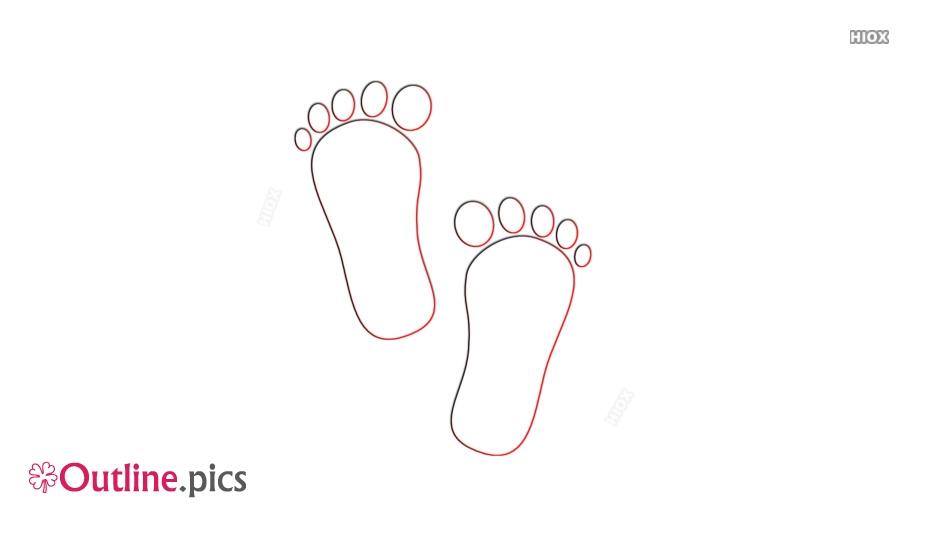 Footprints Outline Images