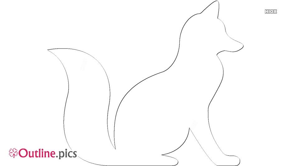 Fox Sitting Svg Outline