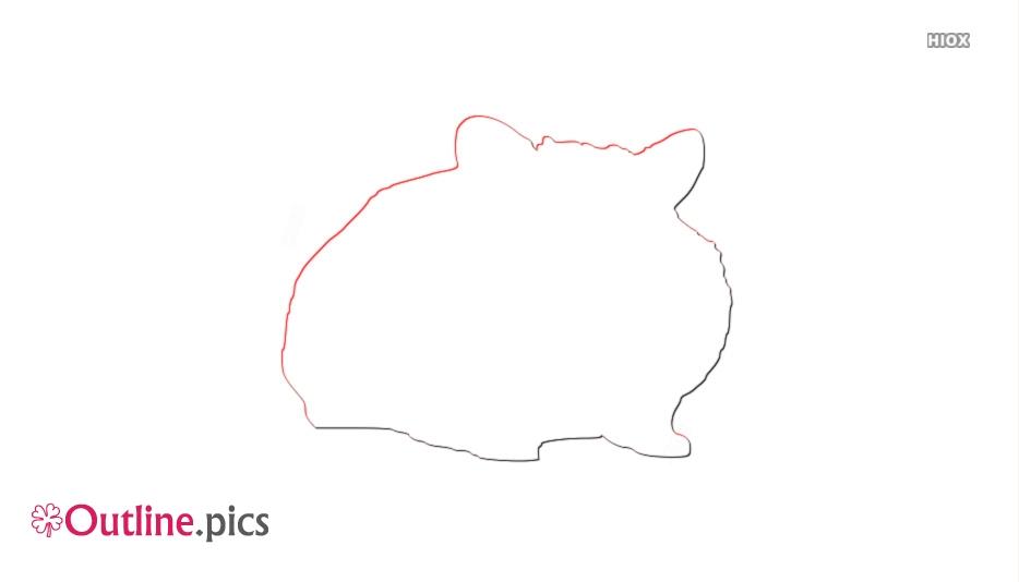 Free Cute Hamsters Outline