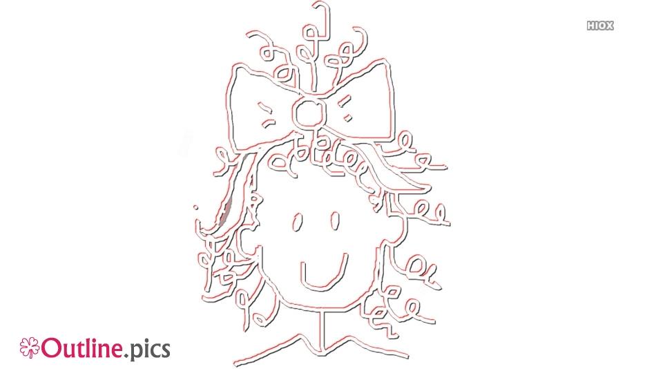 Girl Cartoon Outline Image
